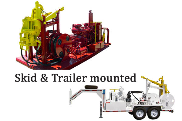 Skid and Trailer mounted oil rig power swivel